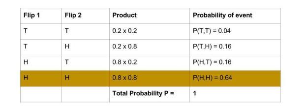 Probability Theory - 2 flips